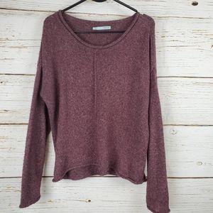 Maurices Purple Rolled Hem Sweater
